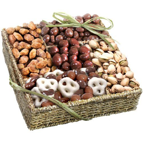 Mendocino Organic Chocolate and Nuts Gift Basket - http://mygourmetgifts.com/mendocino-organic-chocolate-and-nuts-gift-basket/