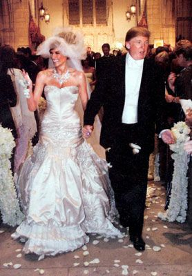 Melania Knauss and Donald Trump at Their Wedding