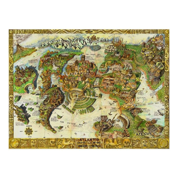 Map Of Poitiers%0A Atlantis Center of the Ancient World Posters