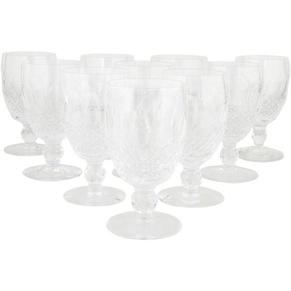 Pre-owned Waterford Crystal Colleen Claret Wine Glasses (1,220 SAR) ❤ liked on Polyvore featuring home, kitchen & dining, drinkware, clear, waterford, etched wine glass, waterford wine glass, waterford wine glasses and etched wine glasses