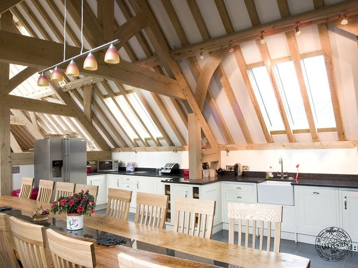 Timber Framed Kitchen Part Of A Large Oak Barn By