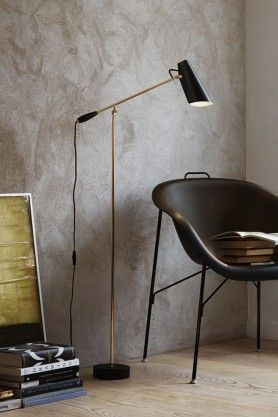 Birdy Floor Lamp - Black & Brass #lightingideas #birdylight #blackandgold #floorlamp #lightingideas #homeideas #lettherebelighting #rockettstgeorge