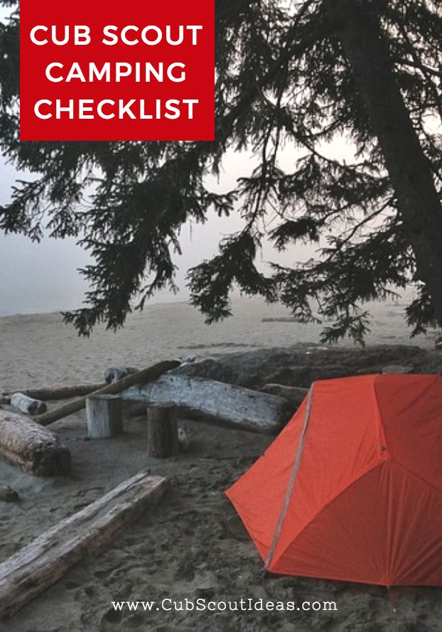 Download this FREE Cub Scout camping checklist to share with the families in your pack.  Share all the details about the campout in one document.