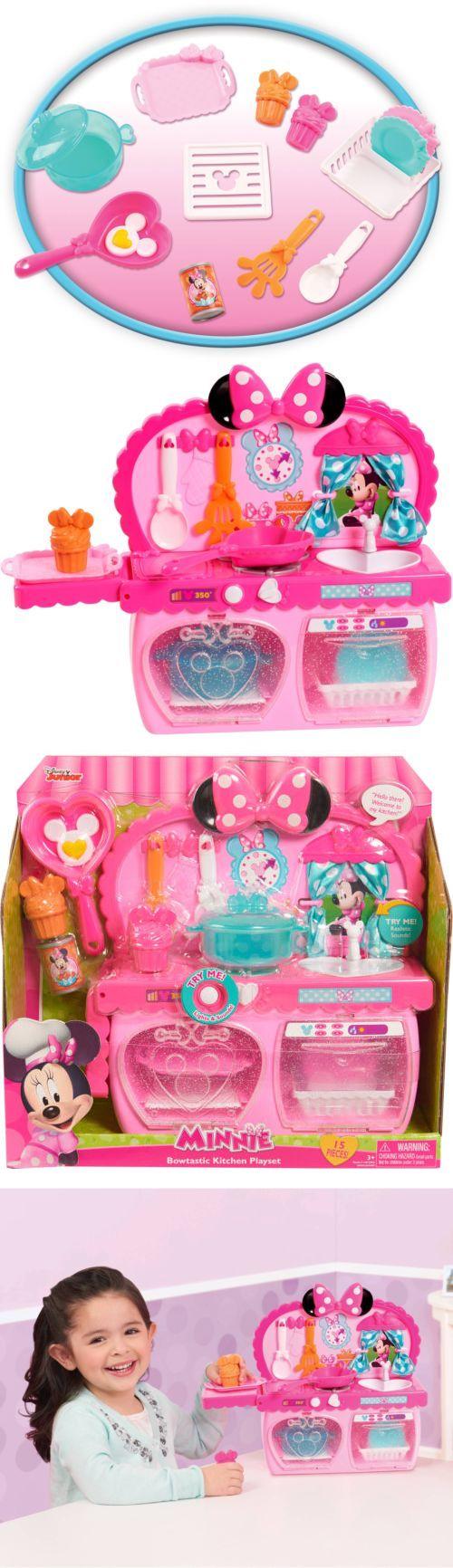 Minnie 19220: Disney Minnie Bow-Tique Bowtastic Kitchen Playset -> BUY IT NOW ONLY: $33.71 on eBay!
