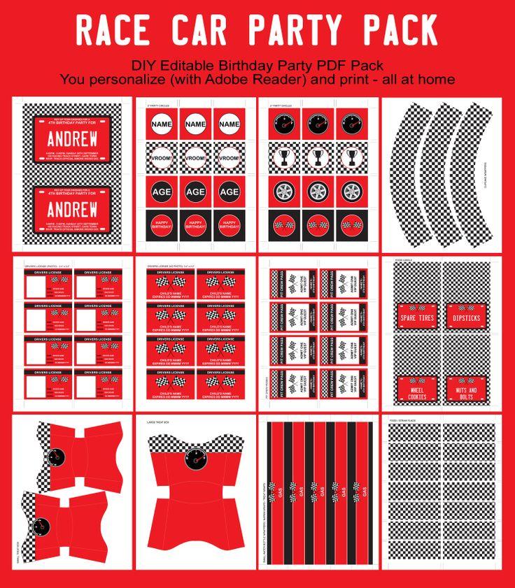 50 best Race Car Theme images on Pinterest | Birthday party ideas ...