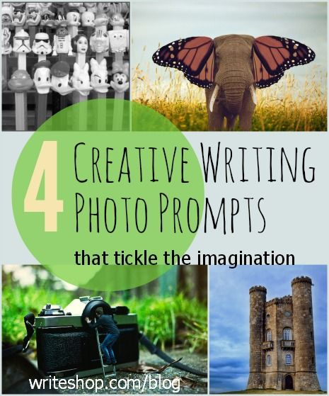 These creative writing photo prompts invite kids to write imaginative, whimsical stories about mysterious and magical places!
