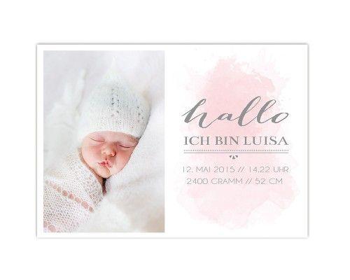 Geburtskarte von www.papierhimmel.com Newbornfoto: www.kalupar-photography.at