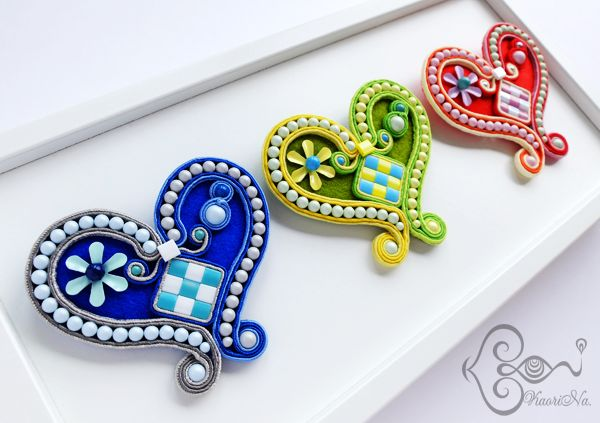 Heart Brooches by KaoriNa.
