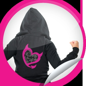 Bad Girls Club: Hoodie Sticker - We know you *devil heart* this Bad Girlicious hoodie. That's why we're giving you a sweet discount on it just for checking in to BGC on OxygenLive.com! Share this one proudly. It's from our friends at Oxygen.