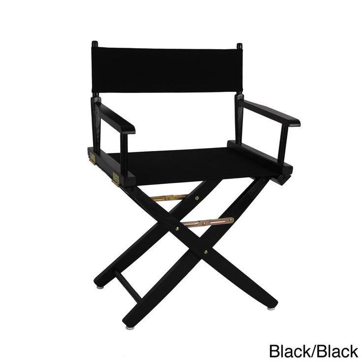 American Trails Extra-Wide Premium 18-inch Director's Chair (Black - Black Finish) (Canvas)