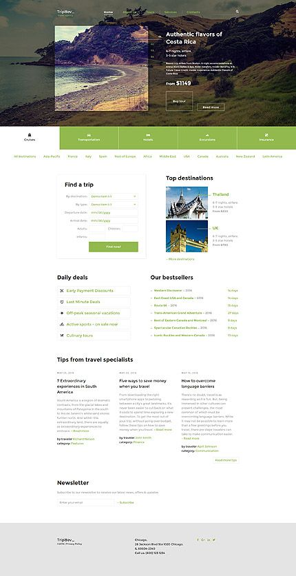 Travel Agency #website #template. #themes #business #responsive #websitethemes