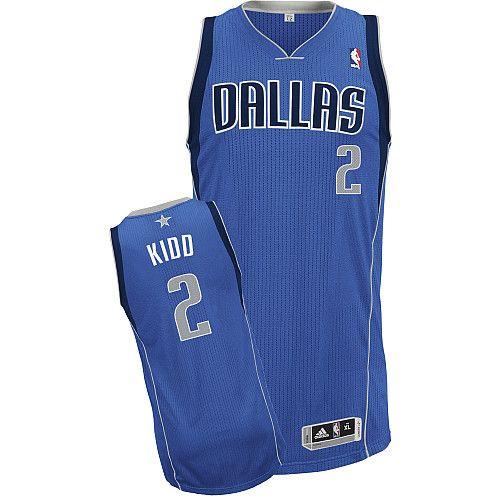 Dallas Mavericks Jason Kidd 2 Blue Authentic Jersey Sale