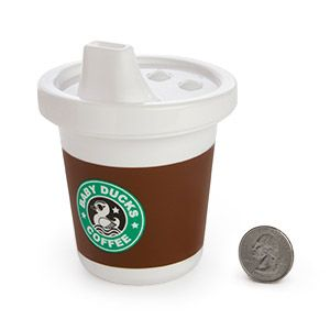 Sippy cup that looks like a starbucks cup, just too adorable @Bekah DeMieri DeMieri DeMieri mack  Stella needs one of these!