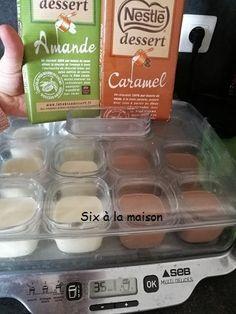 Crèmes onctueuses chocolat blanc amande et crèmes onctueuses chocolat caramel - Petits desserts maison