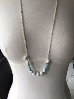 Amazonite & Howlite Necklace  Amazonite is a lucky stone, wear this necklace when you are hoping for your dreams to come to true. It also helps to balance the feminine engergies.  All Savannah Rose Jewellery is lovingly handmade from my wee studio at home just for you.  Handmade in New Zealand  Enjoy !