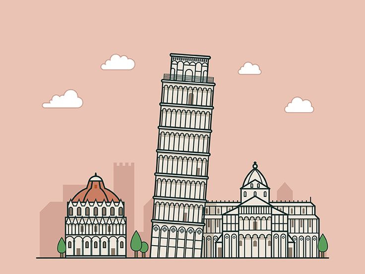 Pisa by Will #Design Popular #Dribbble #shots