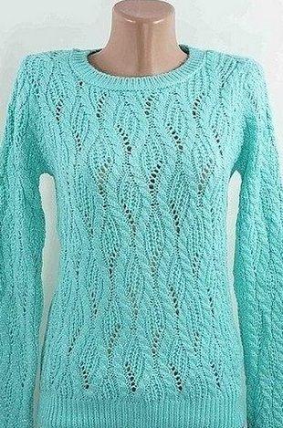 Узор с косами для пуловера