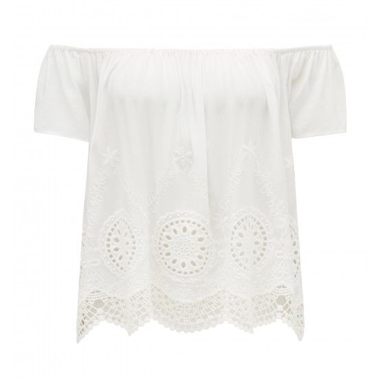 Forever New Ava Off Shoulder Embroidered Top
