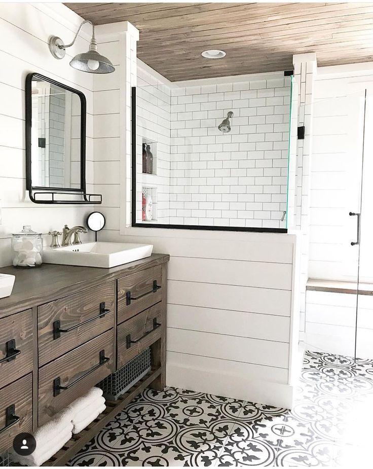 Modern Farmhouse Bathroom Master Bathroom Renovation Upstairs