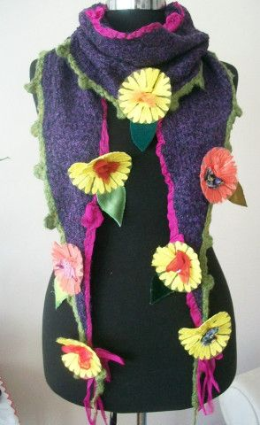 scarves, shawls, hippie shawl, fancy shawl, flowers, boho scarves ,handicrafts, sewing flowers, women's accessories, women's fashion, hippie