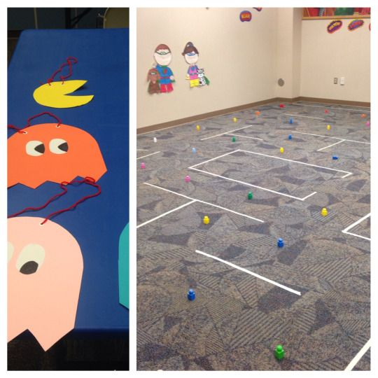 Instructions for how we play live action Pac-Man at the library with our teen group.