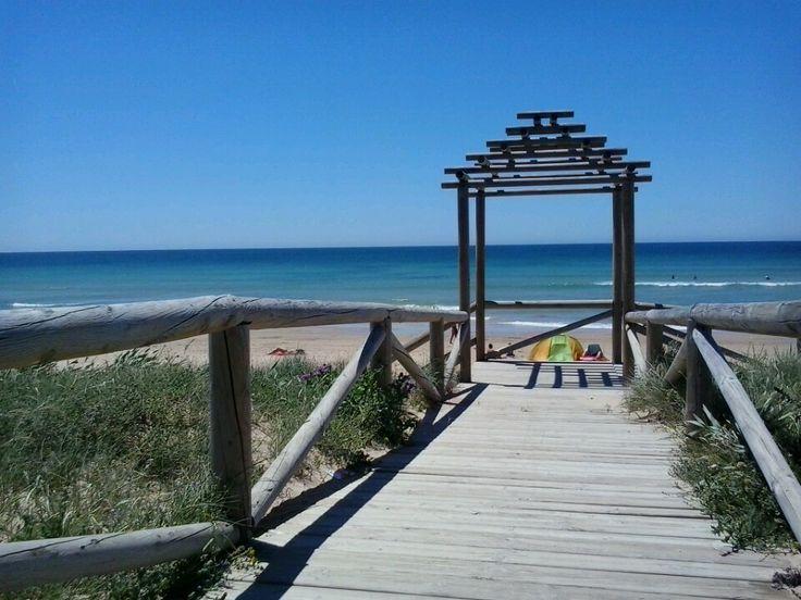 Playa de El Palmar en Conil de la Frontera, Andalucía