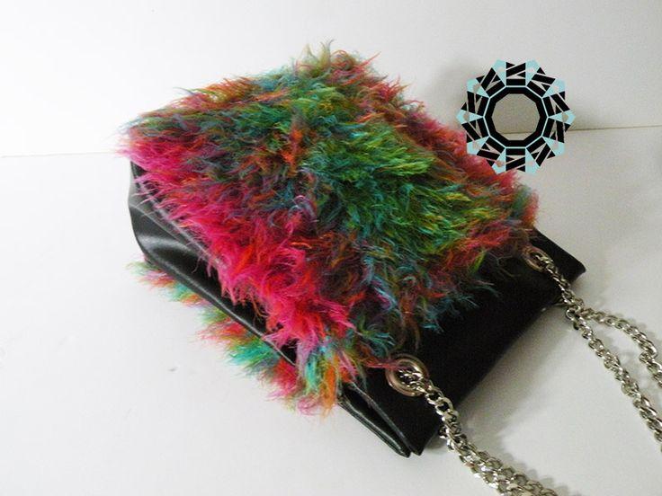 "Full color ""fur"" bag/ Torebka Pełnokolorow by Tender December More/Więcej: http://tenderdecember.eu/full-color-pelnokolorowo/ To buy/Aby kupić: http://tenderdecember.eu/shop/produkt/fully-colored-bag-pelnokolorowa-torebka/"