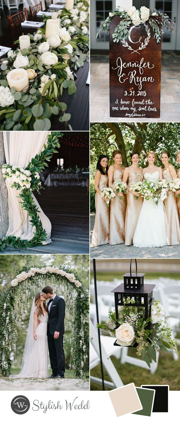9 Greenery Inspired Wedding Colors that You Can't Miss in 2017 1