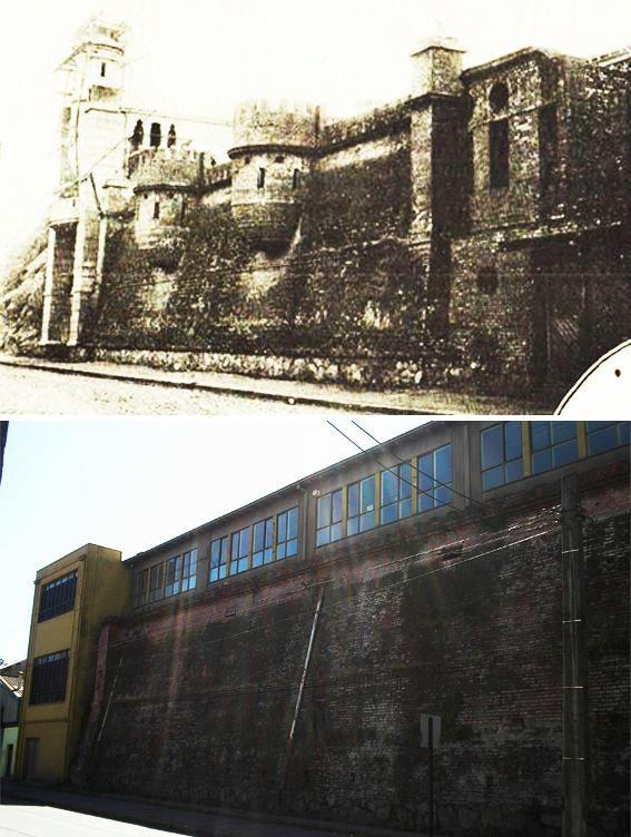 Castillo Zulaica en Concepción arriba y abajo restos actuales