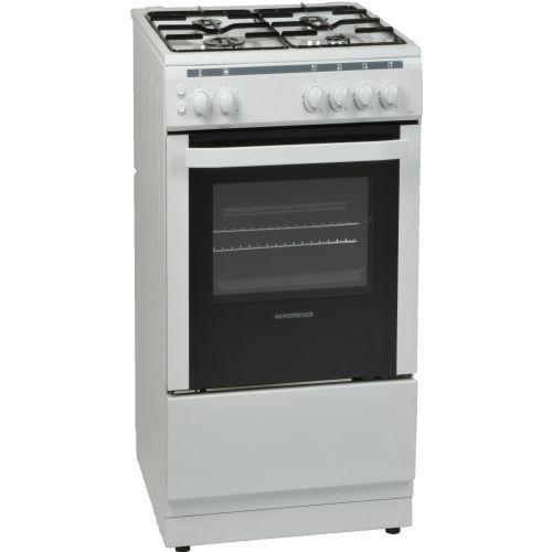 NordMende CSG50LPGWH 50cm LPG Gas Single Cavity White Cooker
