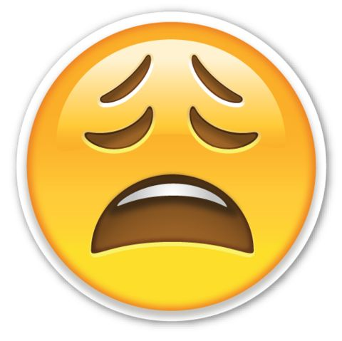 Weary Face | EmojiStickers.com