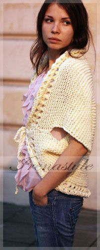 MADE TO ORDER  Hand Knit Cardigan Jacket  Merino by Irenastyle