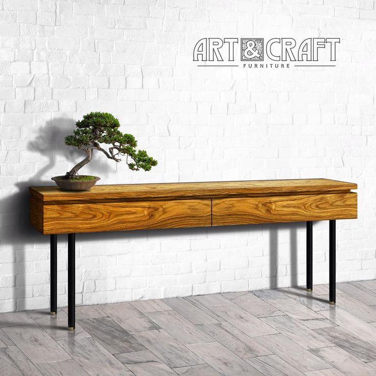 Консоль из коллекции TAMARAW. Выполнена из массива ясеня, с отделкой из палисандра. Естественная текстура древесины позволяет создать уникальное изделие, не размывая внимание ценителя сложными формами и декоративной фурнитурной. #мебель #мебельизмассива #мебельназаказ #дизайн #дизайнинтерьера #loftstyle #loft #лофт #decor #homedecor #decorhome #woodfurniture #furniture #homedesign  #acwdfurniture #decorate #decorating #декор #декордлядома  #интерьер #design #interior #interiordesign…