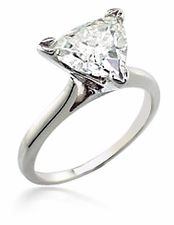 CZ Trillion Triangle Cathedral Tiffany Inspired Solitaire Engagement Ring  featuring Ziamond Cubic Zirconia. The Ziamond Trillion Triangle Cathedral  ...