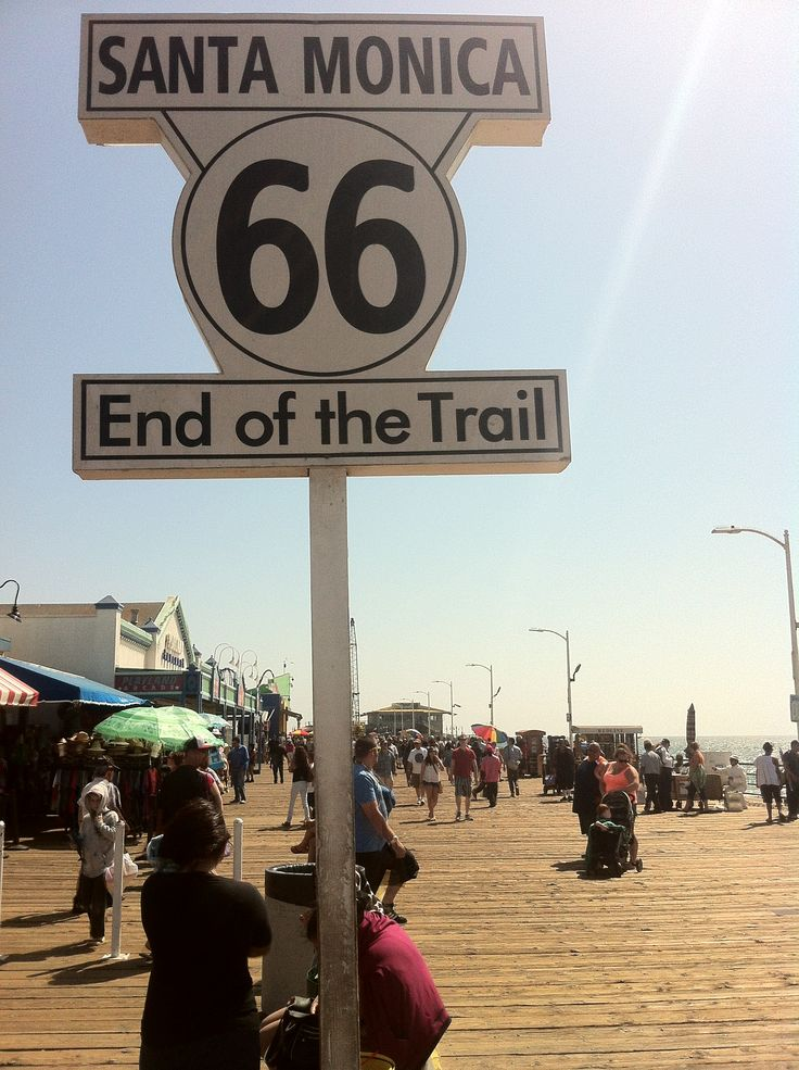 End of the Trail, Route 66, Santa Monica, CA