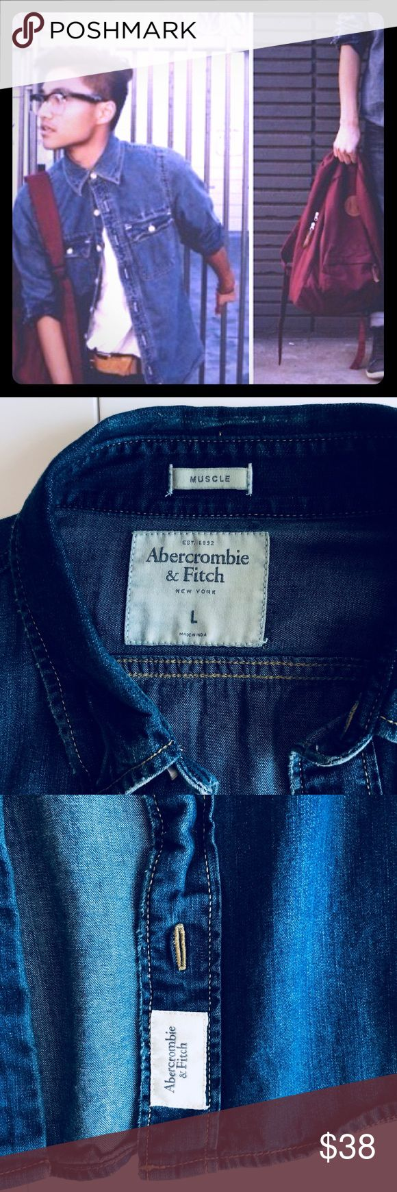 New Abercrombie and Fitch jean Jacket Brand new without price tags Abercrombie and Fitch Jean jacket in size large. Abercrombie & Fitch Jackets & Coats