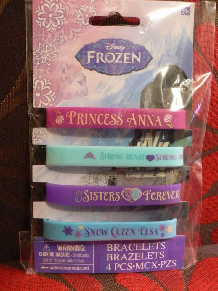 Disney Frozen Birthday Party Bracelets 4 Count Princess Elsa and Anna Supplies #DesignWare #BirthdayChild