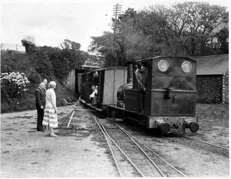 No.2 'Dolgoch' returns into Tywyn Wharf with one of the inaugural trains to Rhydyronen - 14/5/1951.