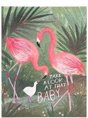 Flamingo Baby Klappkarte