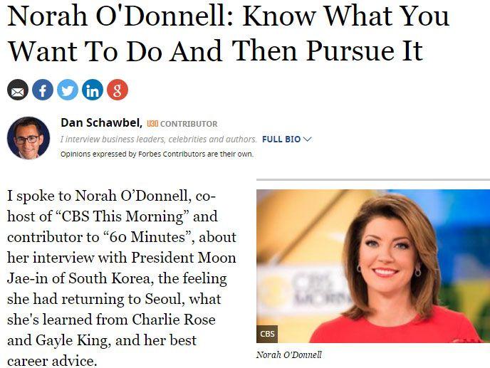 문재인 정부 외신보도 모음. 외신에서 본 청와대는?문재인 정부에 대한 해외 언론의 관심이 높다. 청와대가 공개한 외신에 소개된 청와대 뉴스이다.문재인 대통령과 첫 인터뷰를 했던 CBS방송 노라 오도넬의 평가가 포브스(Forbes)에 실렸다.블룸버그(Bloomberg)는 문재인 정부가 중소기업 지원을 추진하자, 외국인들이 한국 중소형주에 대폭적으로 투자하기 시작했다고 전한다.포브스(Forbes)