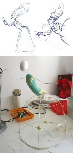 wire doll making and design in progress sculpture art stop motion puppet Amandadas
