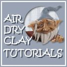 entire blog on air dry clay and cold porcelain!!!  recipe link on making your own