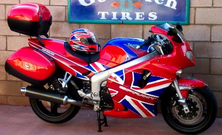 1999 Triumph Sprint STI - 955 Motorcycle - amazing Union Jack paint job