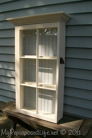Wall Cabinet from a Repurposed Window