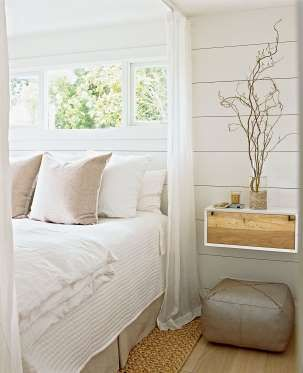 Shiplap paneling is often wider than beadboard and hung horizontally across…