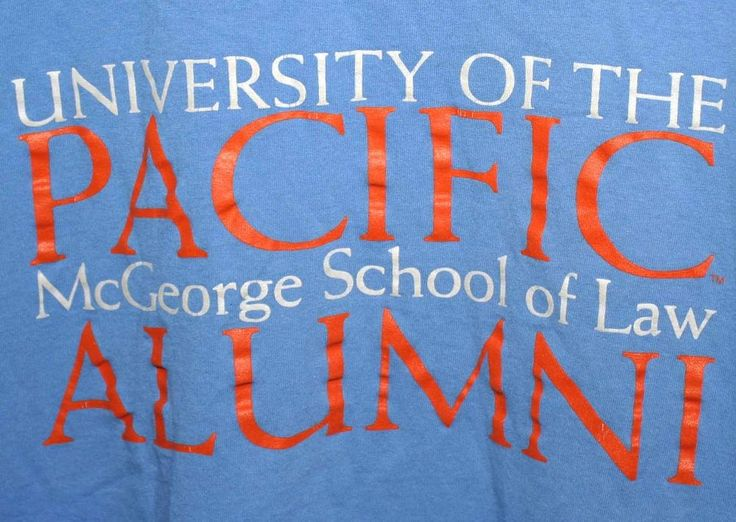 UOP University of the Pacific McGeorge School of Law Alumni T-Shirt Adult M Blue #RussellAthletic #GraphicDesignTShirt