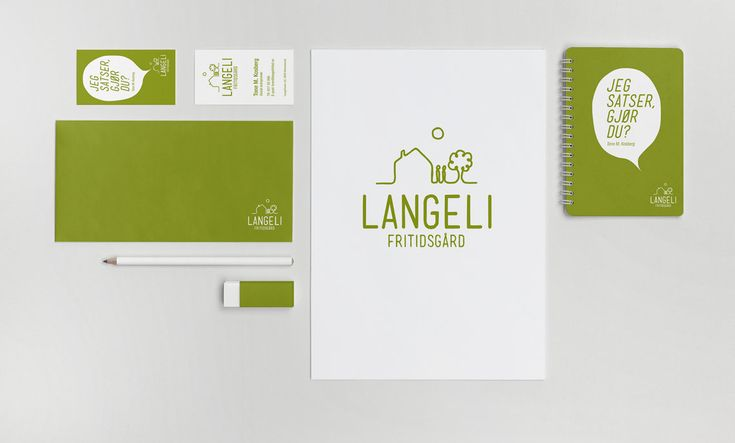 Logo and visual identity for Langeli Fritidsgård in Norway. #logodesign #design #logo #identity #visualidentity #norgesdesign