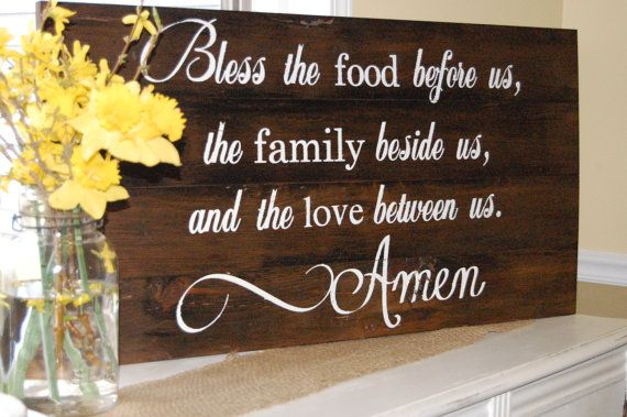 Bless the food before us family beside us and love by angtiques, $120.00