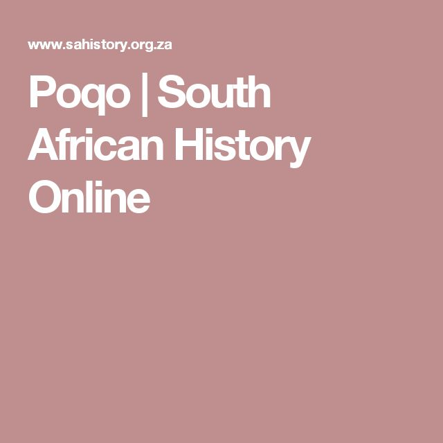 Poqo | South African History Online