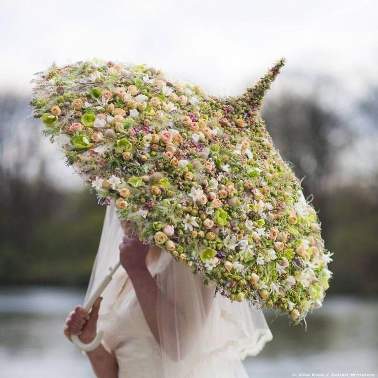 Букет зонт цветы фото